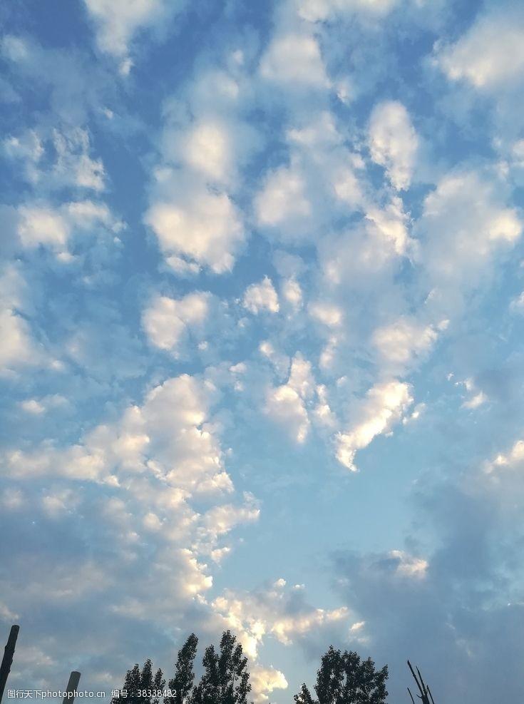 夏日藍天白云