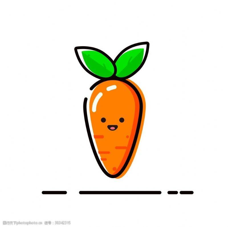 卡通图案MBE胡萝卜图标