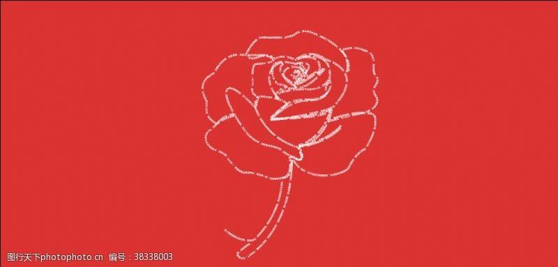 粉玫瑰矢量玫瑰花