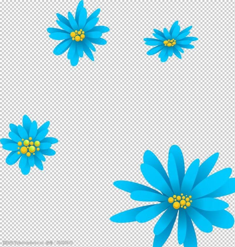 底纹边框鲜花素材