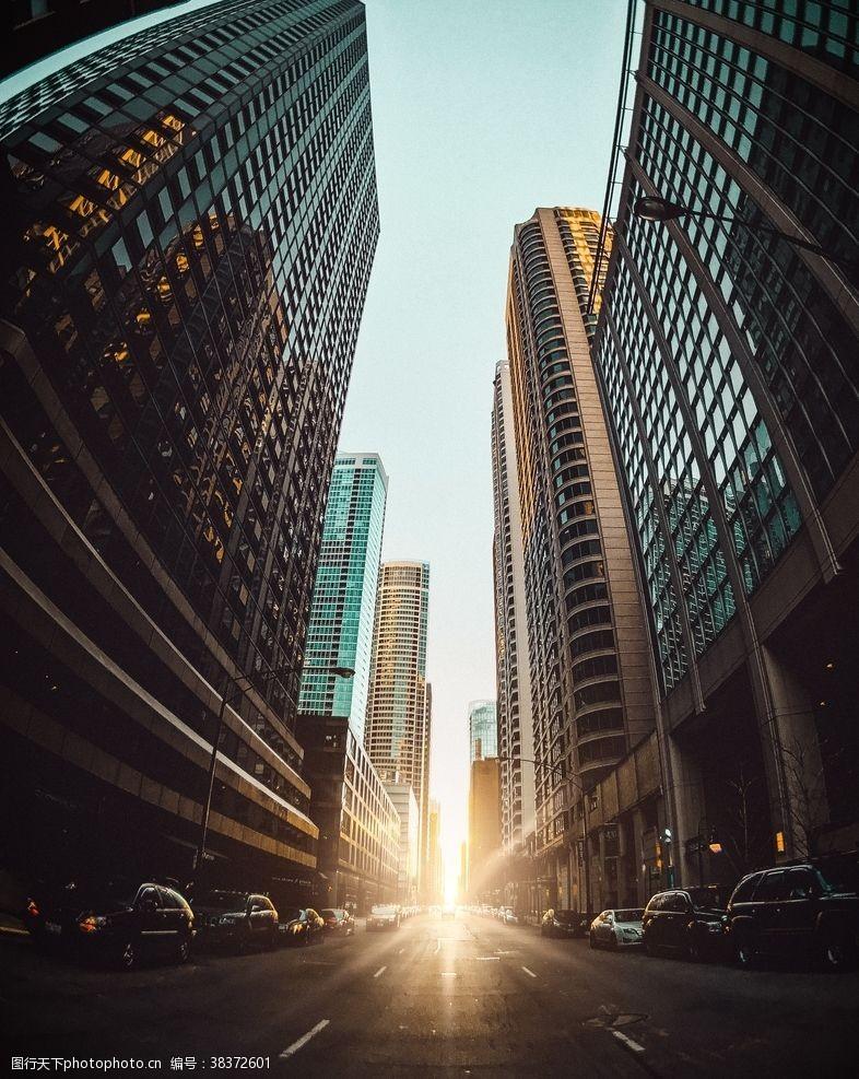 建筑城市阳光