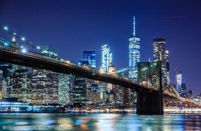 建筑城市夜空