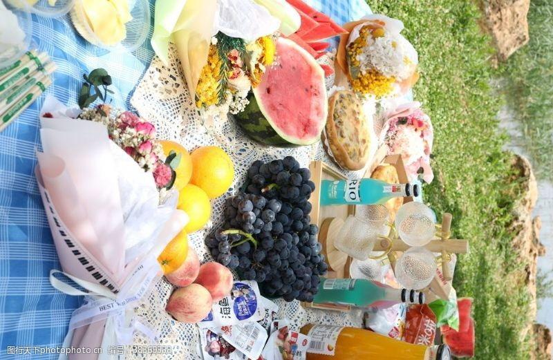 拍摄春游野餐食物