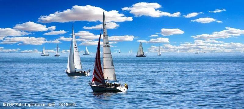 山川海洋帆船