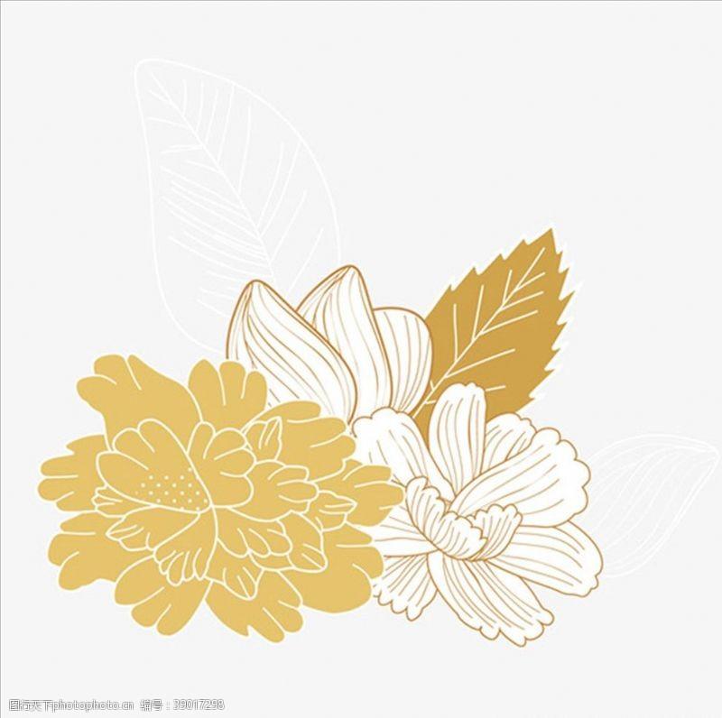 矢量图 金色花朵装饰图片