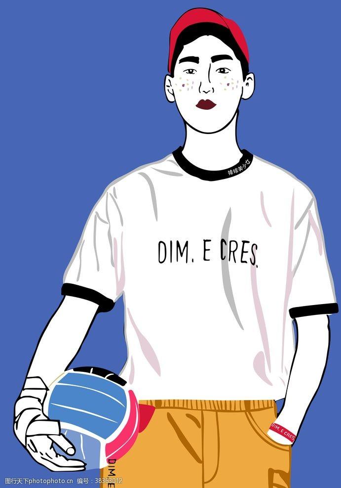 卡通男孩漫画唯美头像T恤热图