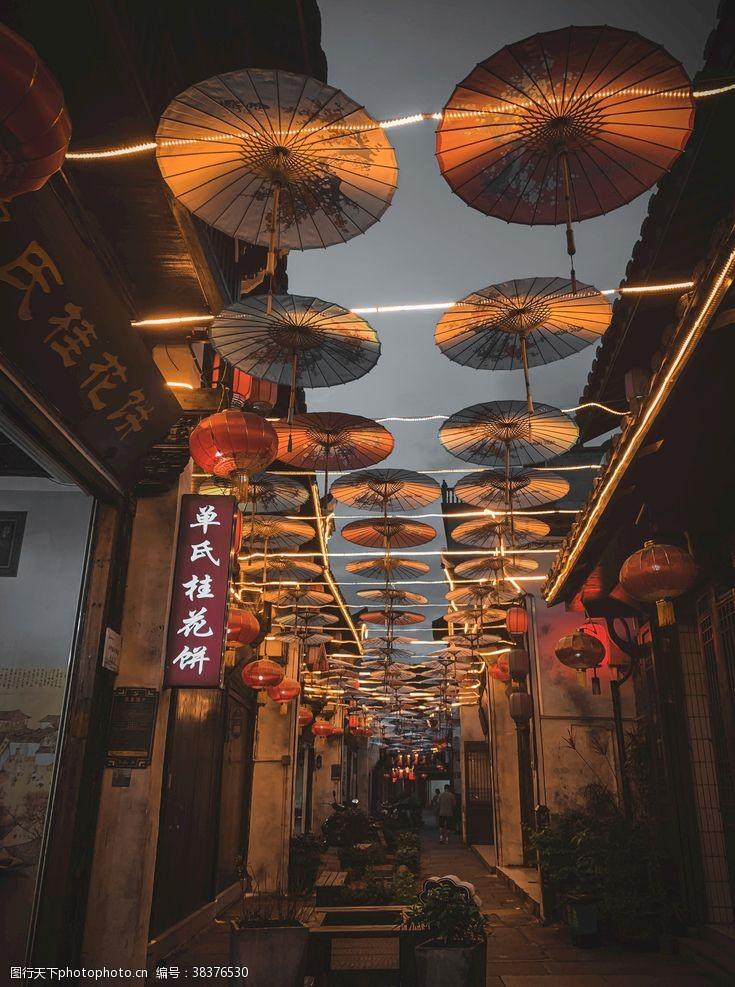 余杭老街夜景
