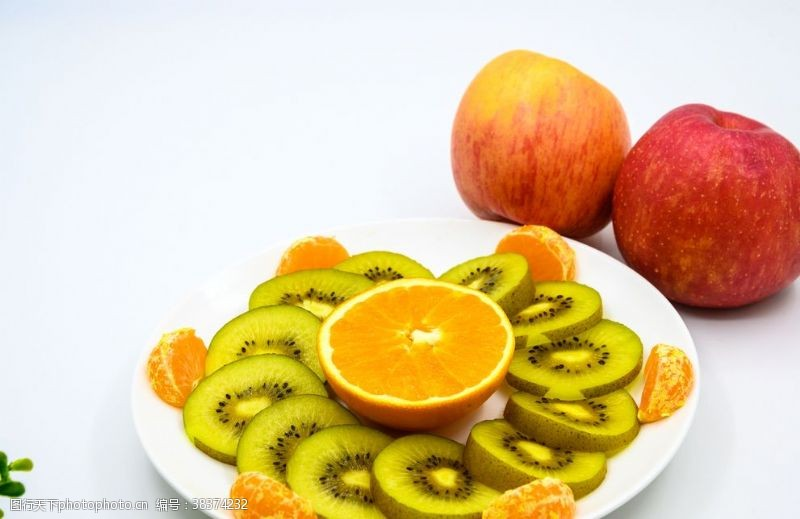 拍摄苹果与水果拼盘