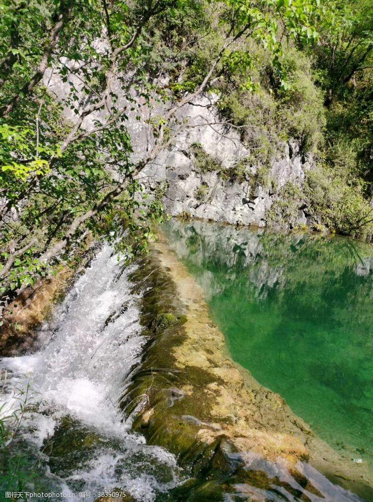 山川山水风景山水瀑布高山流水