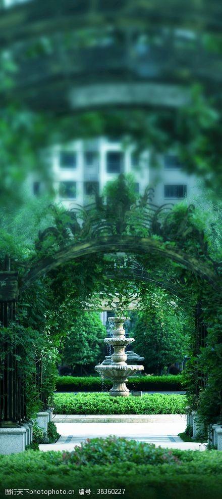 喷泉园林景观