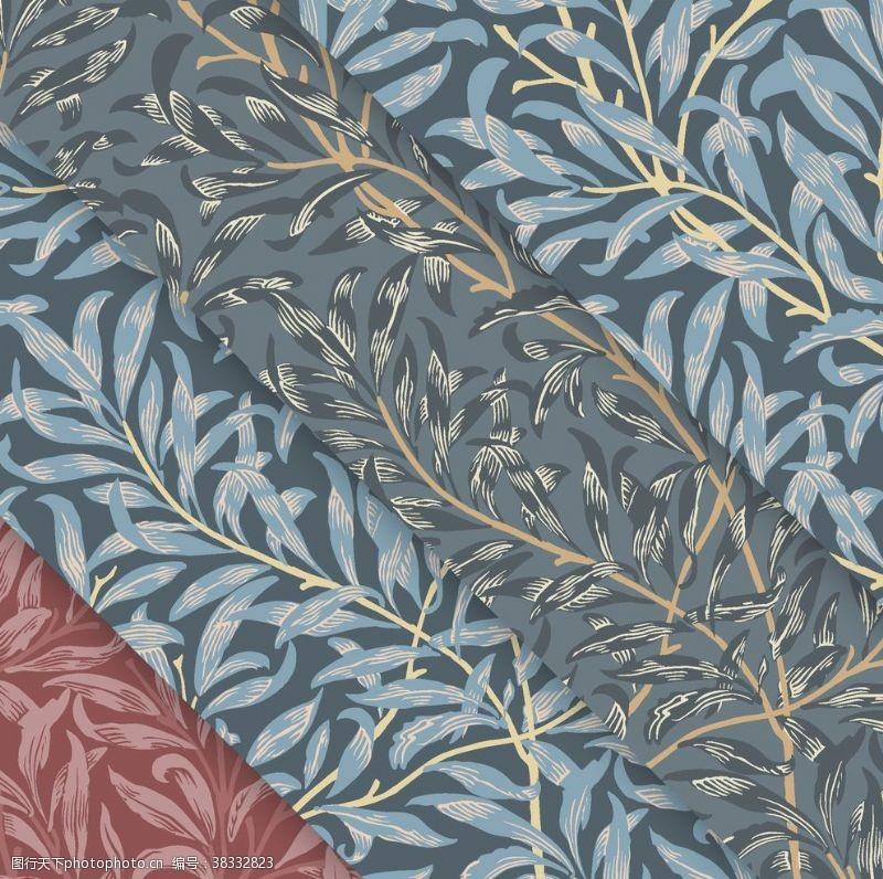 树叶背景植物花朵背景底纹