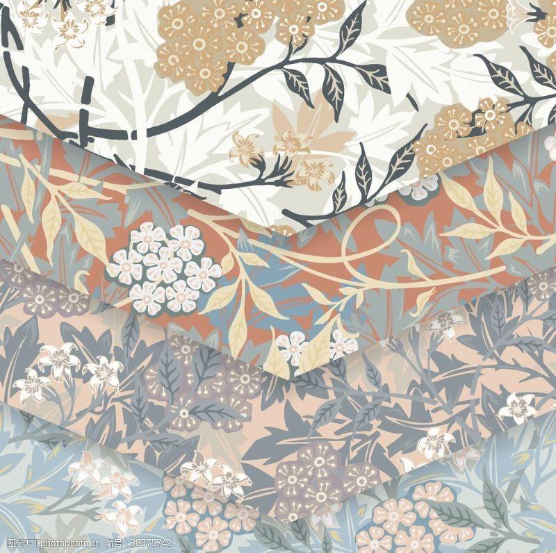 底纹背景植物花朵背景底纹
