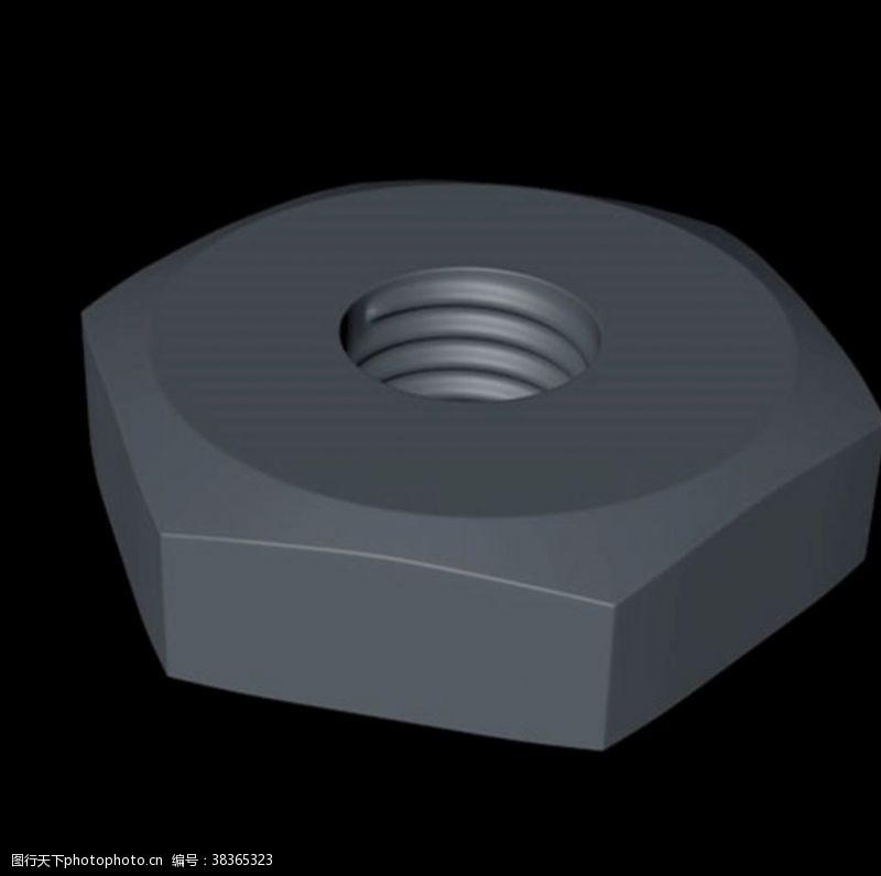 3d作品C4D螺帽模型