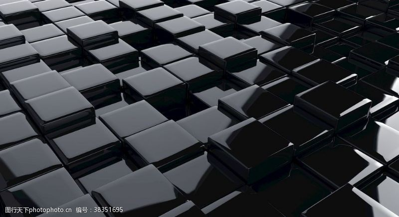 电脑合成抽象方块