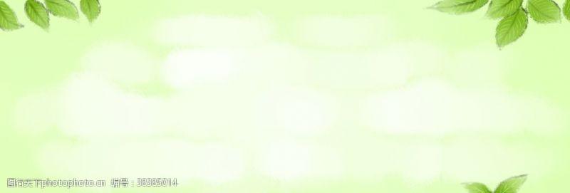 春天海报绿色素材春天素材