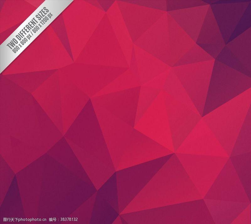 多边形设计红色抽象多边形背景