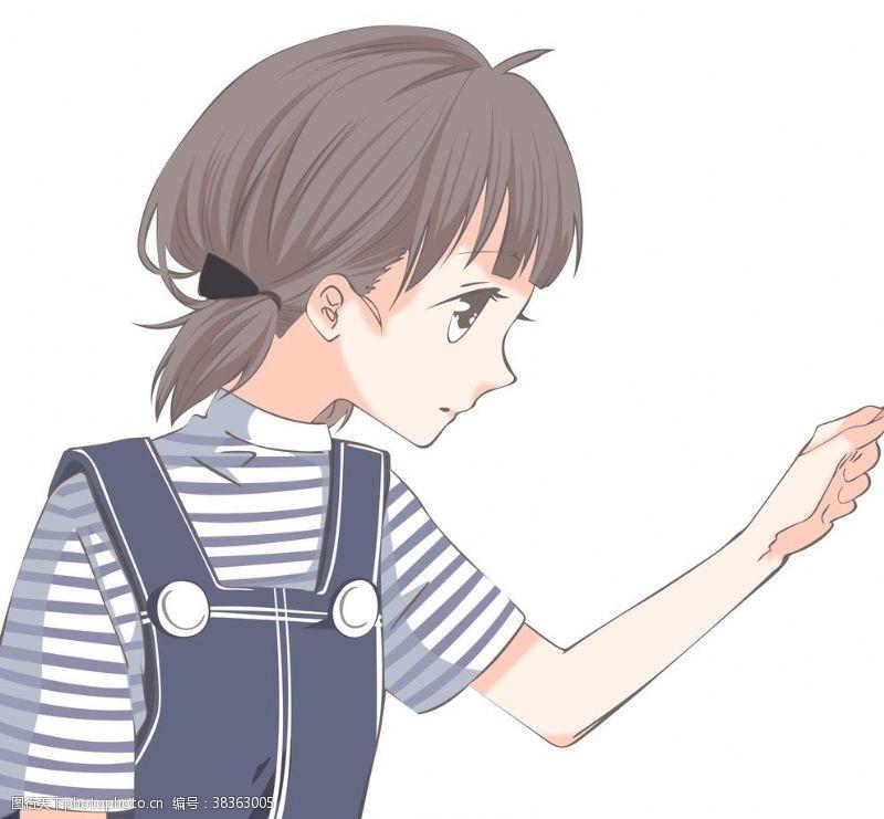 卡通女孩漫画唯美头像T恤热图
