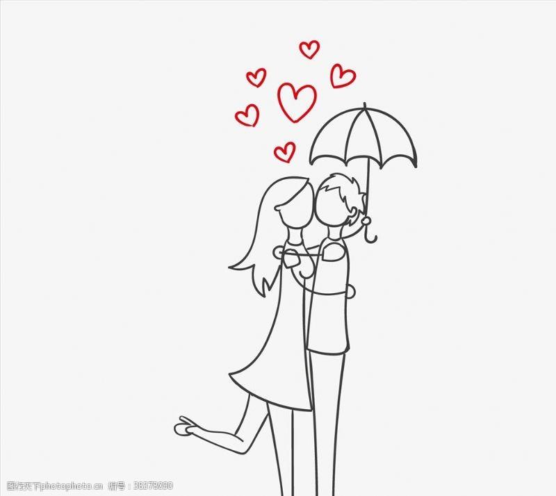浪漫情侣伞下