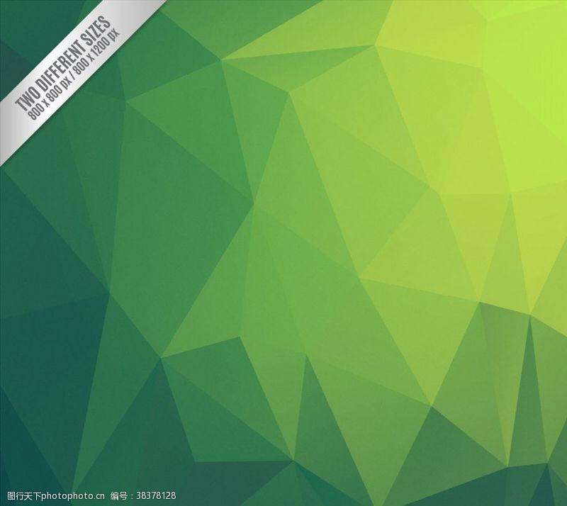 多边形设计绿色抽象多边形背景