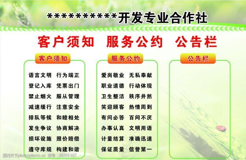 绿色展板农业展板