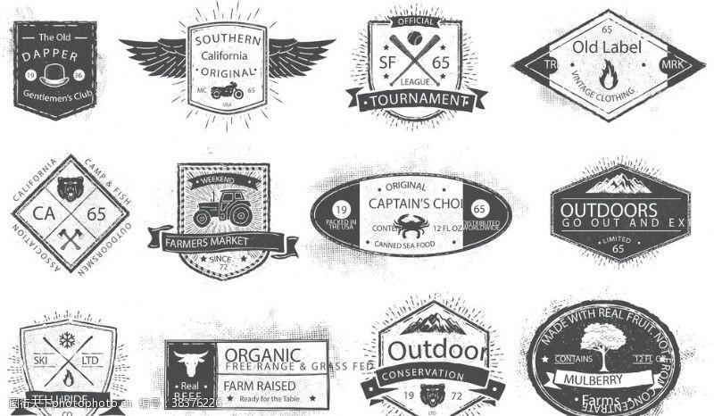 古典标志矢量标志logo