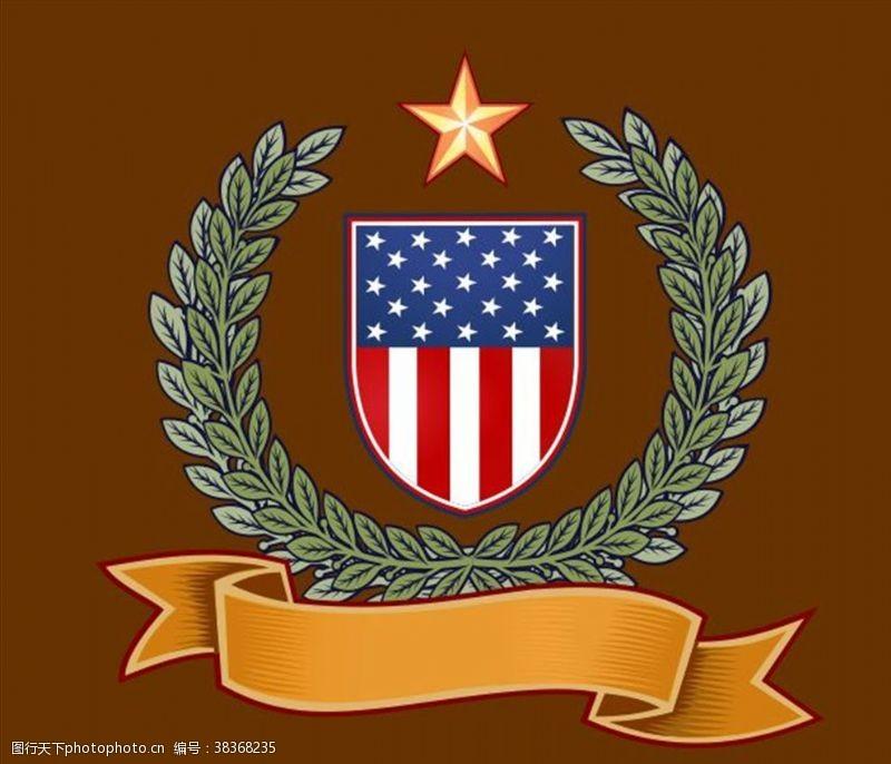 星条旗盾牌章