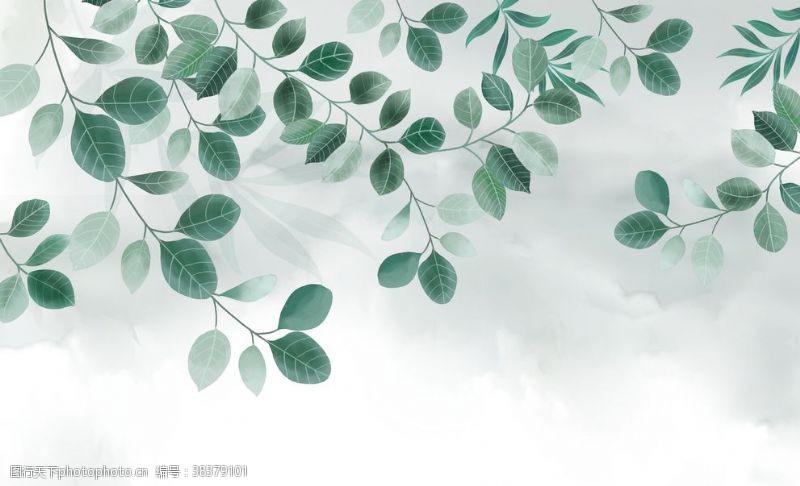 室内设计植物背景墙