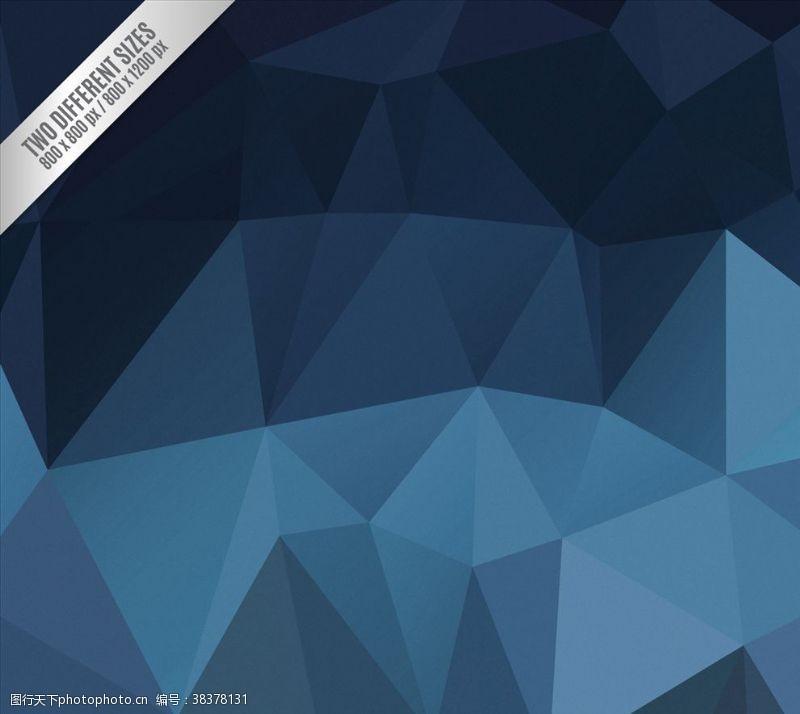 多边形设计抽象蓝色背景多角形