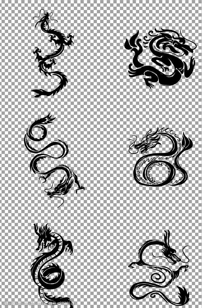 元素古典龙纹
