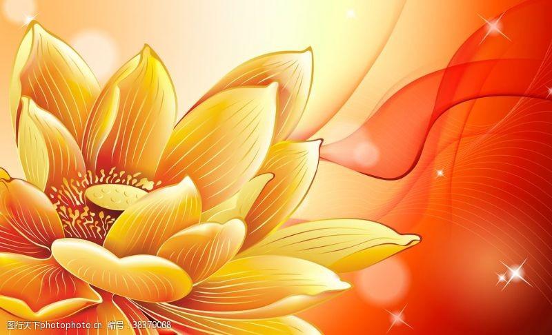 室内设计花卉背景墙