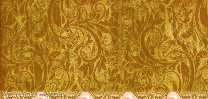 金色主题欧式金色婚礼背景