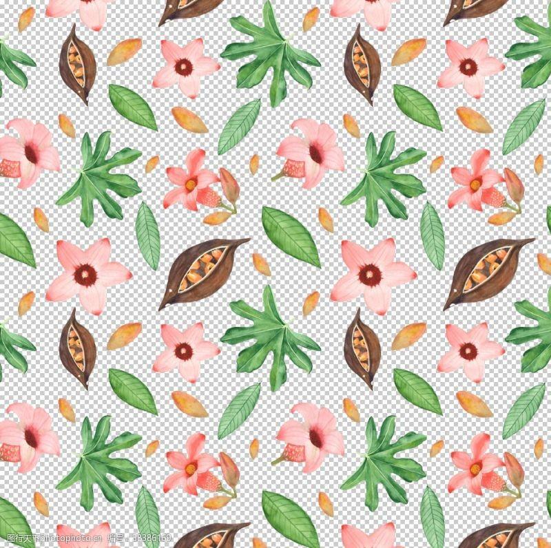 墙纸水彩植物动物背景