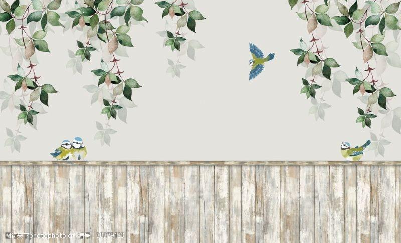室内设计藤条背景墙