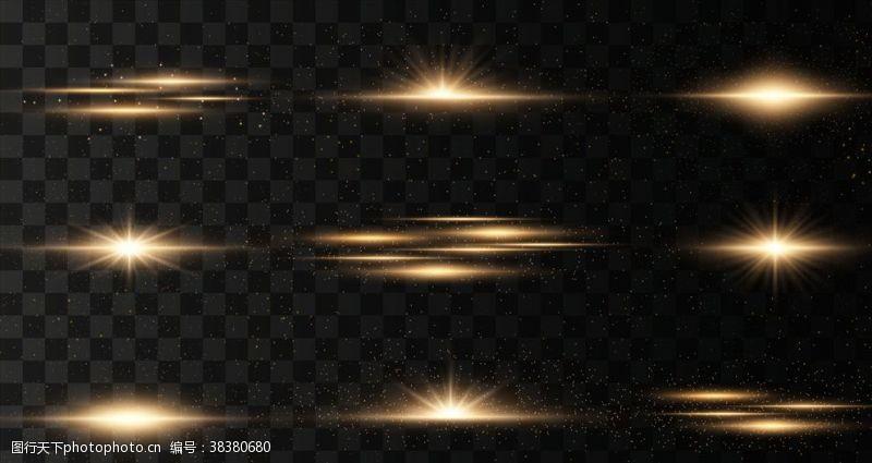 线条星光背景