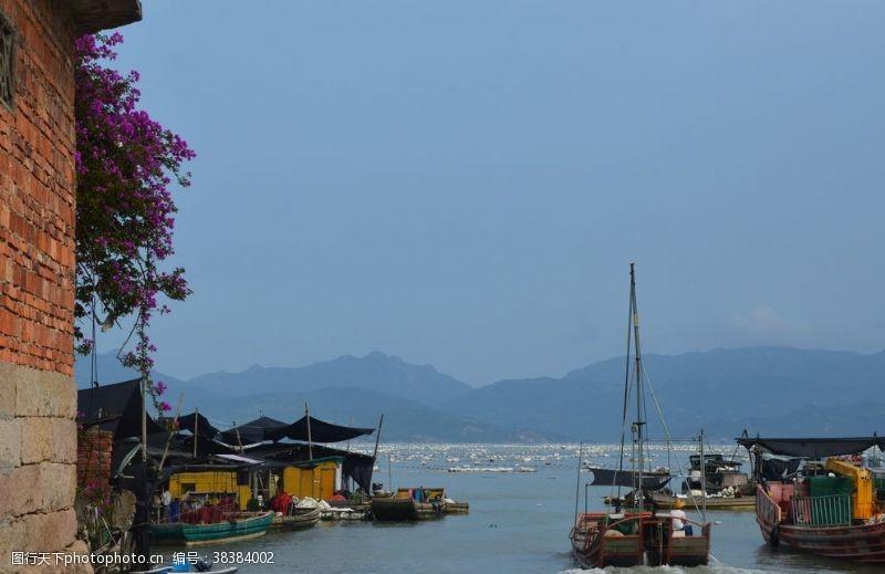 水上运动渔村风光