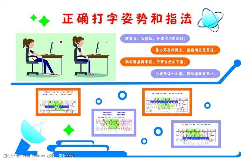 电脑房正确的打字姿势和指法