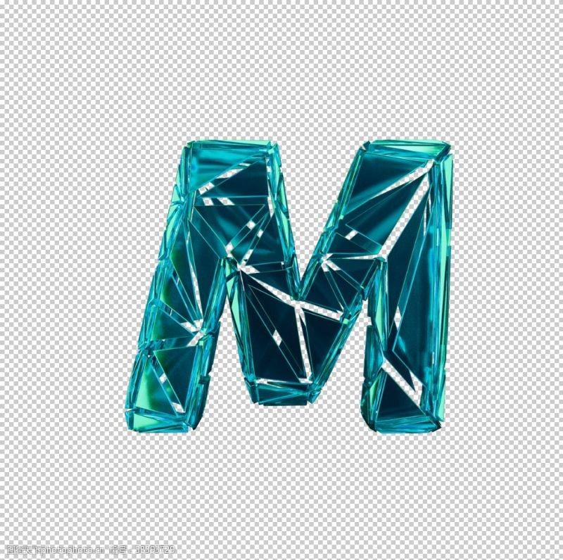 3d设计3D破碎数字M