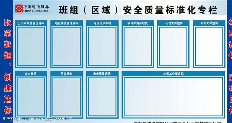 背景墙班组(区域)安全质量标准化专栏