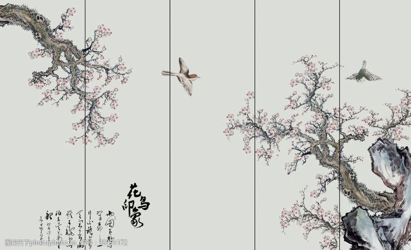 新中式花鸟工笔装饰画