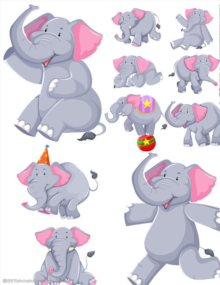 形象卡通大象