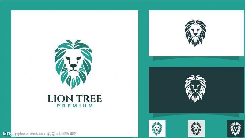 动物狮子卡片