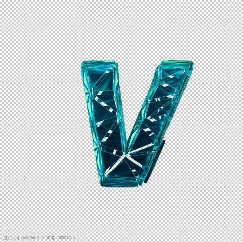 3d设计碎片数字V