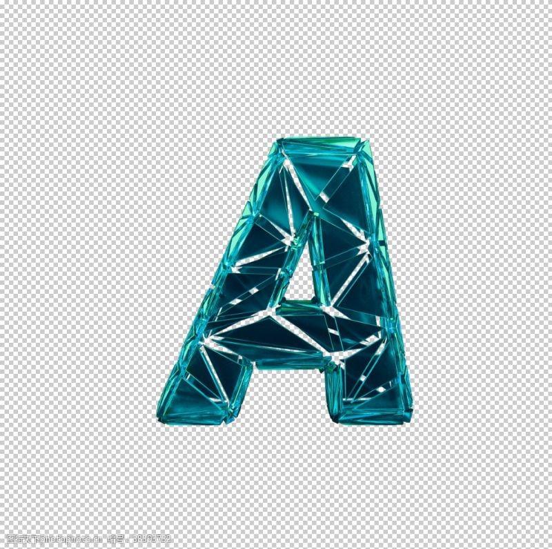 3d设计3D破碎数字A
