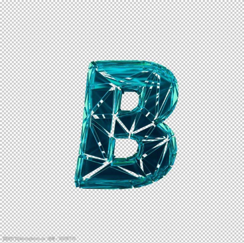 3d设计3D破碎数字B