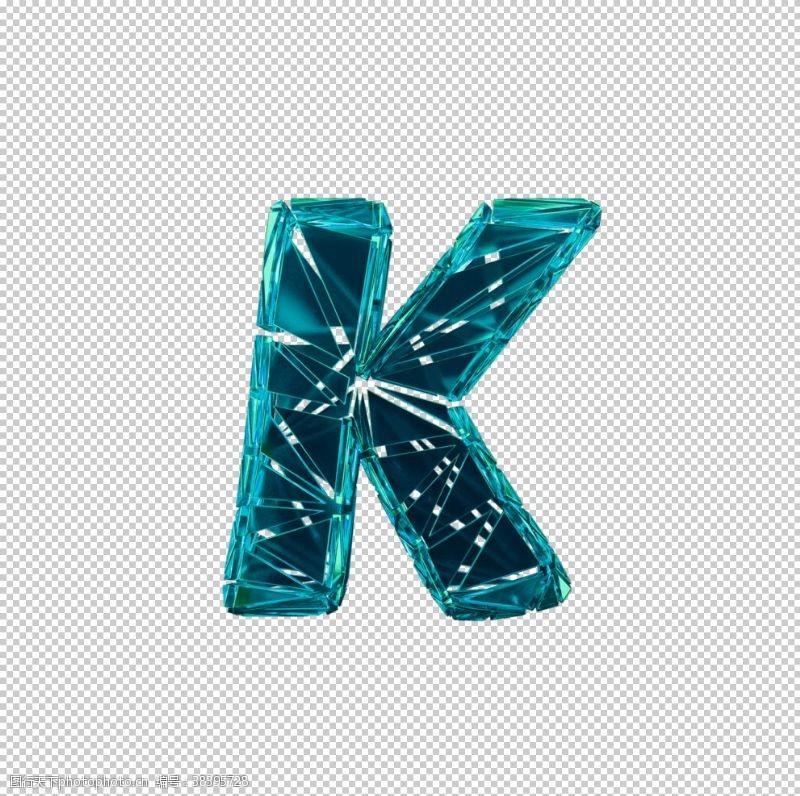 3d设计3D破碎数字K