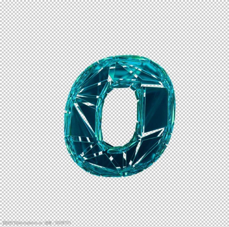 3d设计3D破碎数字O