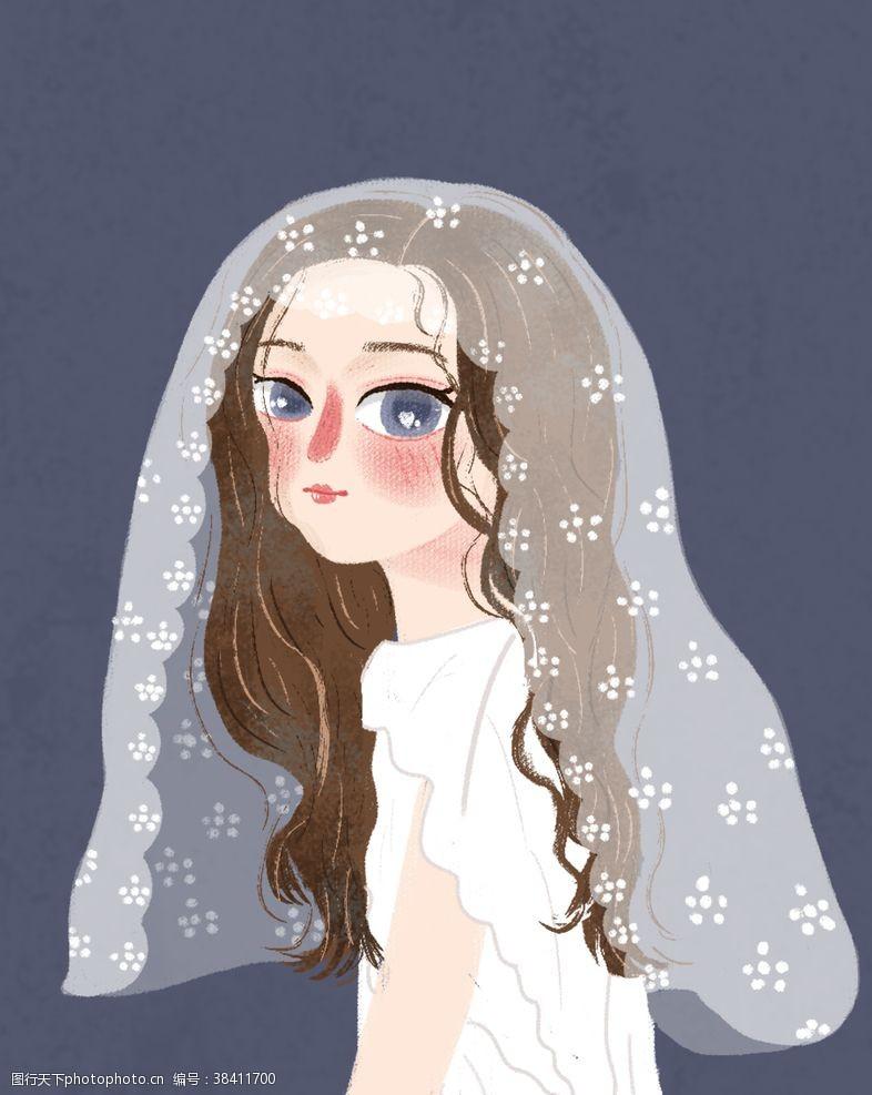 小清新婚纱女孩头像