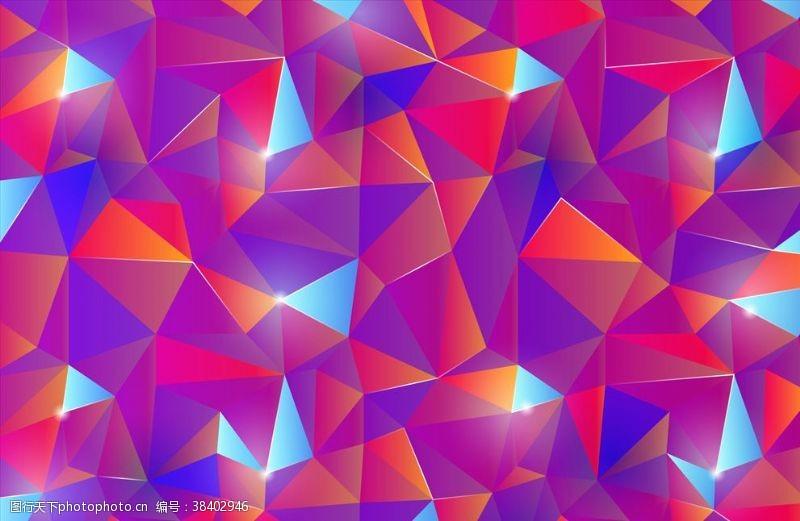 渐变背景渐变三角形