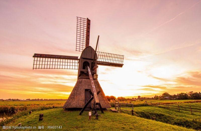 农场磨房风车农业风车荷兰风车