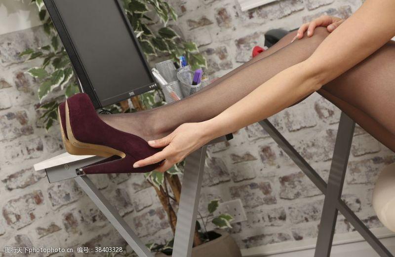 女人黑丝袜美女高跟鞋连裤袜